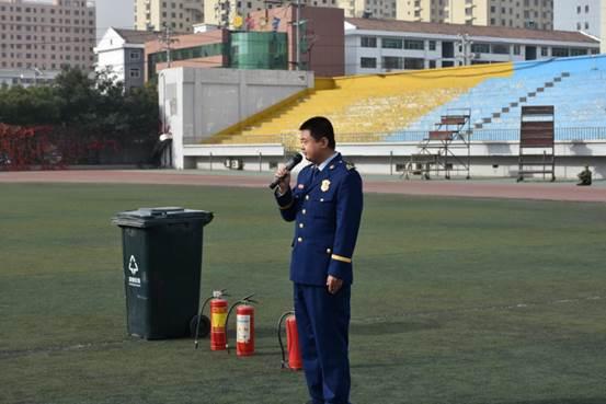 阳泉师专开展消防演练和灭火器使用培训活动